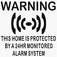 6 x Home Protected Stickers for Windows-BLACK onto