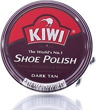 6 x Kiwi Shoe Polish Dark Tan 50ml