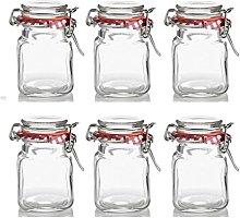 6 x Mini Kilner Preserve Jars With Clip Seal Spice