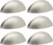 6 X Probrico Cup Cabinet Door Handles Modern Shell