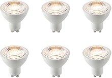 6 x Saxby GU10 LED Light Bulb SMD 60 Degrees 7W