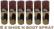 6 x Shoe N Boot Cleaner Waterproof Proofer Spray