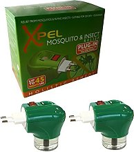 6 x XPEL Mosquito Insect Repellent TRAVEL PLUG IN