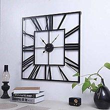 60 cm square skeleton wall clock roman numeral