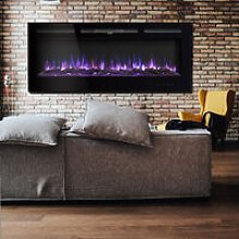 60 Inch LED Electric Fireplace Wall Mounted Wall