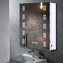 60 LED Illuminated Bathroom Mirror Cabinet with