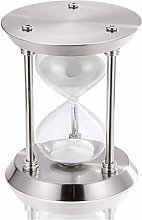 60 Minute Hourglass, Silver Metal Sand Timer 1