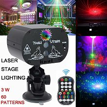 60 Models RGB LED Laser Light Projector Stage
