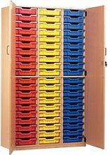 60 Tray Storage Cupboard With Full Doors,