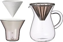 600 ml Carafe Coffee Set with 20 Filters by Kinto