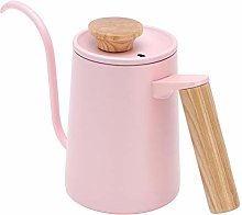 600Ml/350Ml Long Gooseneck Spout Kettle, Wooden