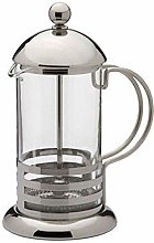600ML 4-Cup Stainless Steel Glass Cafetiere French