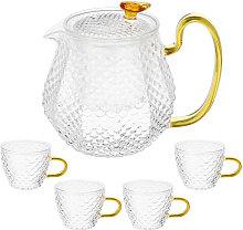 600ml Transparent High Borosilicate Glass Tea Set