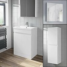 600mm Basin Vanity Unit Mirror Cabinet Tall