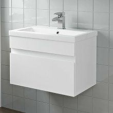 600mm Bathroom Basin Sink Vanity Unit Wall Hung
