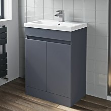 600mm Bathroom Basin Vanity Unit 2 Door Cabinet