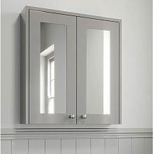 600mm Bathroom Mirror Cabinet 2 Door Wall Hung