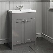 600mm Bathroom Vanity Unit Basin Cabinet Unit Grey