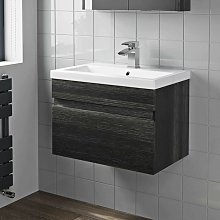 600mm Bathroom Vanity Unit Basin Sink Wall Hung