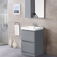 600mm Floor Standing 2 Drawer Vanity Unit Basin