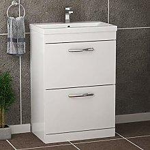 600mm Floor Standing Bathroom Vanity Unit Mid Edge
