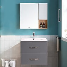 600mm Grey Minimalist Bathroom Cabinet Vanity Sink