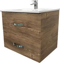 600mm Grey Oak Effect Minimalist Bathroom Cabinet