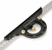Broco 12 Inch Aluminum Alloy Triangle Shape Square Ruler Precision Engineer Carpenter Measuring Tool