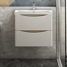 600mm Wall hung Bathroom Sink Vanity Unit with