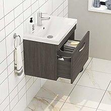 600mm Wall Hung Bathroom Vanity Unit Mid Edge
