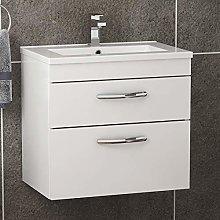 600mm Wall Hung Bathroom Vanity Unit Minimalist