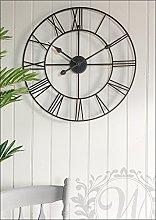 60cm Black Iron Skeleton Wall Clock.