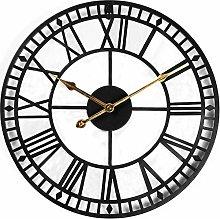 60cm Large Metal Wall Clock Antique Vintage Retro