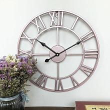 60CM Metal Round Wall Clock Rose Gold