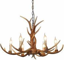 60cm Retro Deer Horn Antler Resin Pendant Light