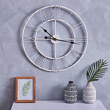 60CM Roman Numerals Wall Clock White