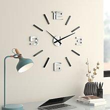 60cm Wall Clock Symple Stuff Colour: Silver Mirror