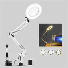 60LED Desk Lamp 5X Magnifier Glass With Light