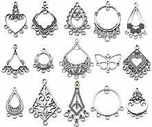 60pcs(30 Pairs) Mixed Earring Drop Charms