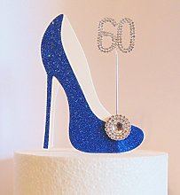 60th Birthday Cake Decoration Royal Blue Shoe with