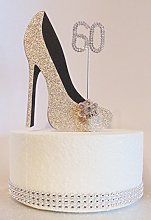 60th Birthday Cake Decoration Shoe (Gold and
