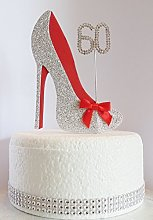 60th Birthday Cake Decoration Shoe with Diamante