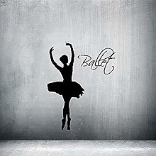 61x57cm Rumor Sticker Ballerina Silhouette Turn