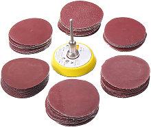 62pc 50mm Sanding Sander Backing Pad Dremel Rotary