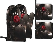 6321 Oven Mitts and Pot Holders Sets of 4,Portrait