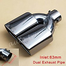 63Mm 2.5 Inch Universal Tail Muffler Rear Exhaust