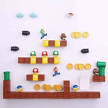 63pcs 3D Super Mario Bros. Fridge Magnets