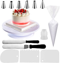 63PCS Cake Decorating Kits with 50PCS Pastry Bags Cake Turntable Cream Spatula Scraper Cake Piping Nozzles Tips Baking Tools Set for Birthday Cake Party Dessert Restaurant,model:Multicolor