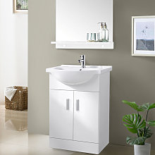 650mm White Basin Vanity Unit Sink Cabinet