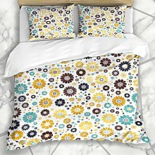 666 UNKEY Duvet Cover Sets Fantasy Aster Yellow